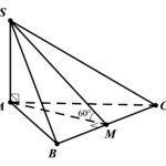 cho khối chóp s.abc có đáy là tam giác đều cạnh a, cạnh bên sa vuông góc với đáy, góc giữa (left( sbc right)) và mặt phẳng đáy bằng (60{}^circ ). tính thể tích v của khối chóp s.abc. 6097e0469a8d9.png