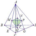 cho khối tứ diện abcd có thể tích 2020. gọi m, n, p, q lần lượt là trọg tâm của các tam giác abc, abd, acd, bcd. 6097a8ad91ab9.png