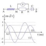 Đặt điện áp xoay chiều lên hai đầu mạch điện như trong hình 60b25761336a2.png