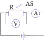 trong sơ đồ bên, r là một quang điện trở, as là ánh sáng kích thích 608ca708f1744.png